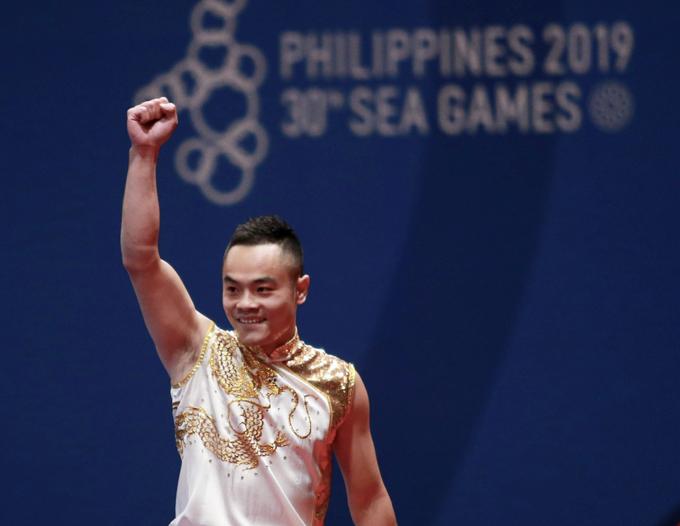 Hôm 2/12, Quốc Khánh đã giành HC đồng nội dung toàn năng.