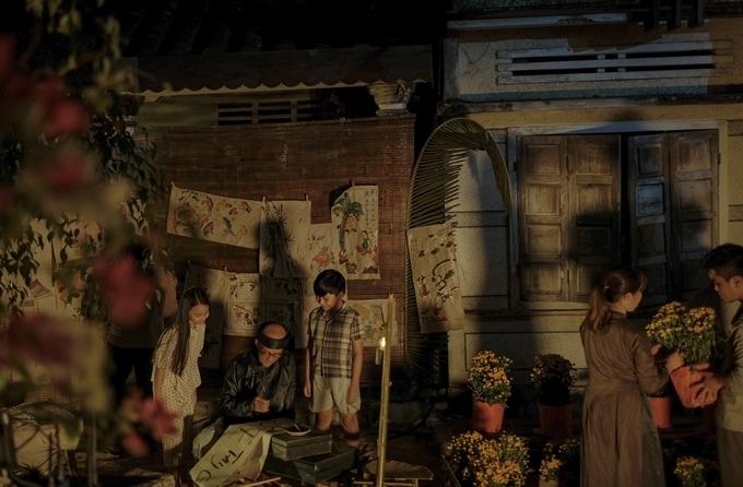 Một góc chợ Đo Đo trong phim.