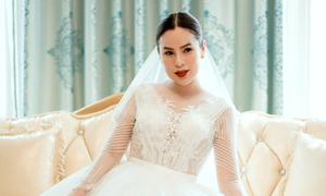 Hoa hậu Phương Lê diện váy cưới