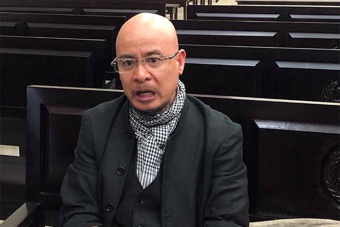 Ông Đặng Lê Nguyên Vũ trả lời phỏng vấn trưa nay.