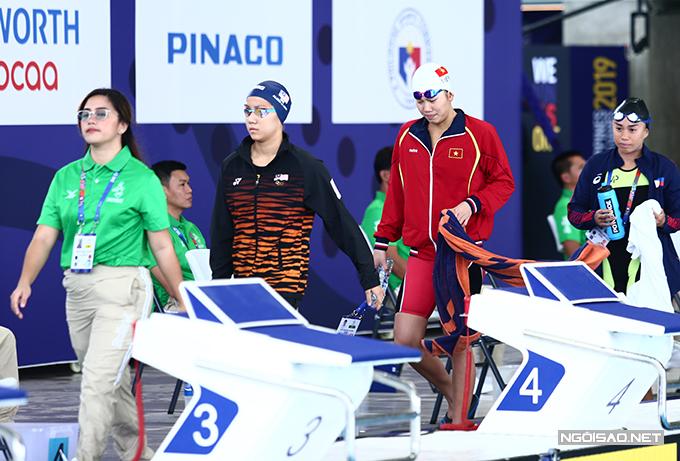Sáng 4/12, Ánh Viên bước vào tranh tài tại SEA Games 30 ở vòng loại hai nội dung 200m hỗn hợpvà 200m bướm của nữ.