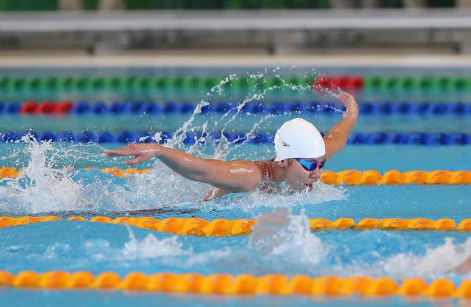 Trong ngày thi đấu thứ tư của SEA Games, kình ngư Nguyễn Thị Ánh Viên bước vào tranh tài vòng loạ