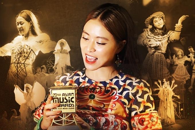 Hoàng Thùy Linh nhận giải Nghệ sĩ Việt Nam xuất sắc nhất châu Á