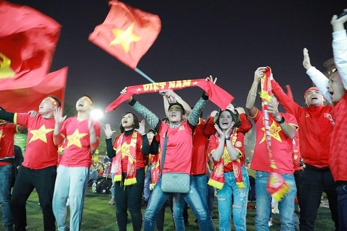 Đè bẹp Campuchia 4-0, U22 Việt Nam vào chung kết SEA Games sau tròn một thập kỷ chờ đợi. Ảnh: Nguyễn Ngoan