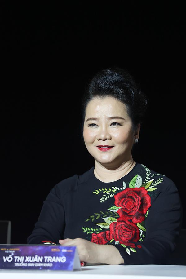 Bà Võ Thị Xuân Trang, trưởng ban giám khảo của cuộc thi.