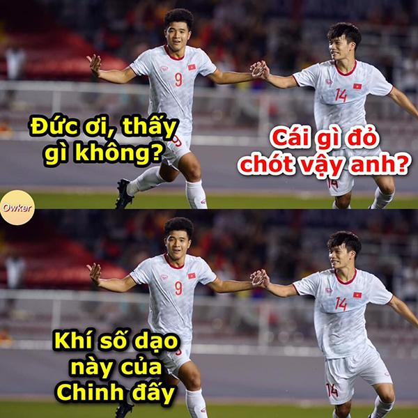 Đức Chinh từng bị nhiều chê dứt điểm kém, tuy nhiên anh đã có nhiều thành tích tiêu biểu trong mùa Sea Games 30. Nhiều người cho rằng anh không còn là Chinh đen nữa.