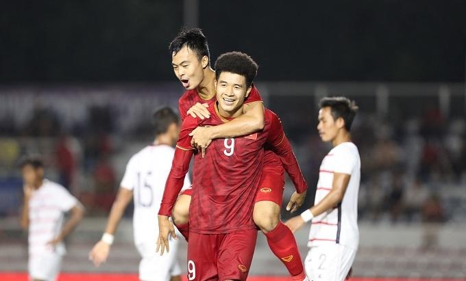 Đức Chinh đã có bảy bàn ở SEA Games 30. Ảnh: Đúc Đồng.