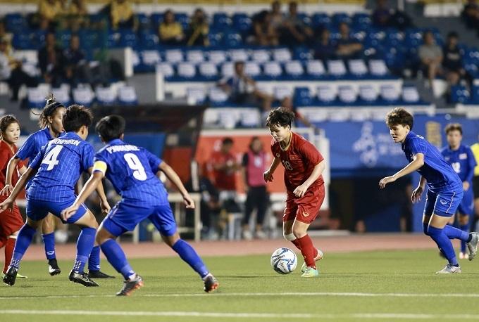 Cầu thủ Việt Nam tự tin trước vòng vây Thái Lan. Ảnh: Lâm Thỏa.
