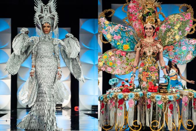 Hoa hậu Philippines (trái) được công bố đoạt giải, nhưng thí sinh chiến thắng thật sự là Malaysia.