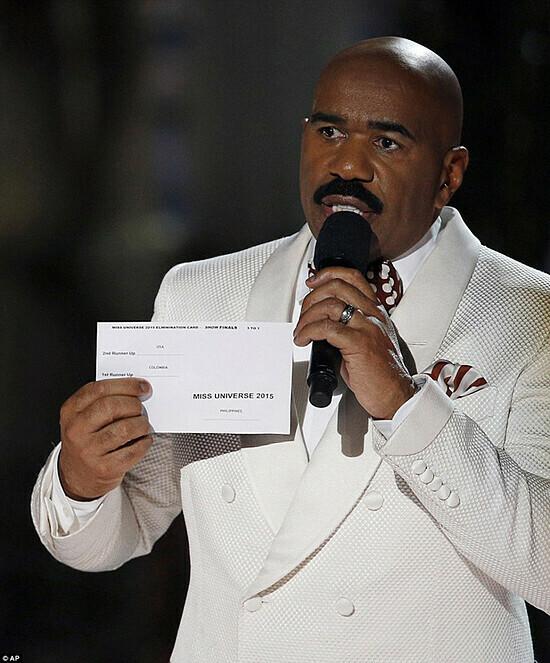 MC tại chung kết Miss Universe với kết quả nhầm lẫn.
