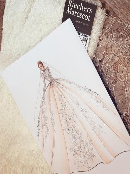 Tất cả các thiết kế Haute Couture đều có bản vẽ thiết kế và được đăng ký quyền sở hữu thuộc về các cô dâu.