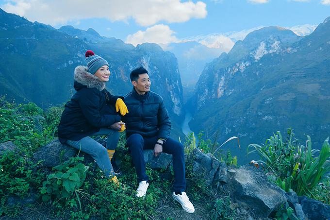 Bảo Thanh và chồng khám phá đèo Mã Pí Lèng (Hà Giang).