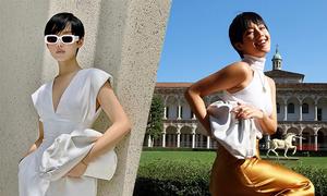 Khánh Linh đón đầu xu hướng túi hot trend