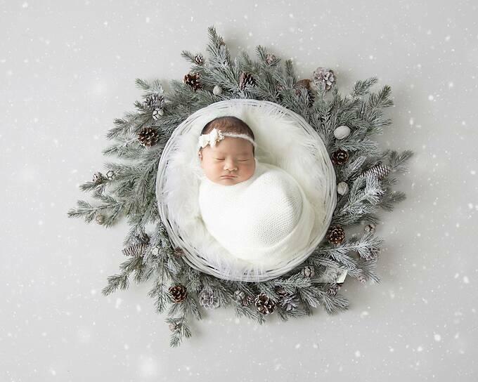 Ảnh chụp khi bé Bảo Bối mới được một tuần tuổi.