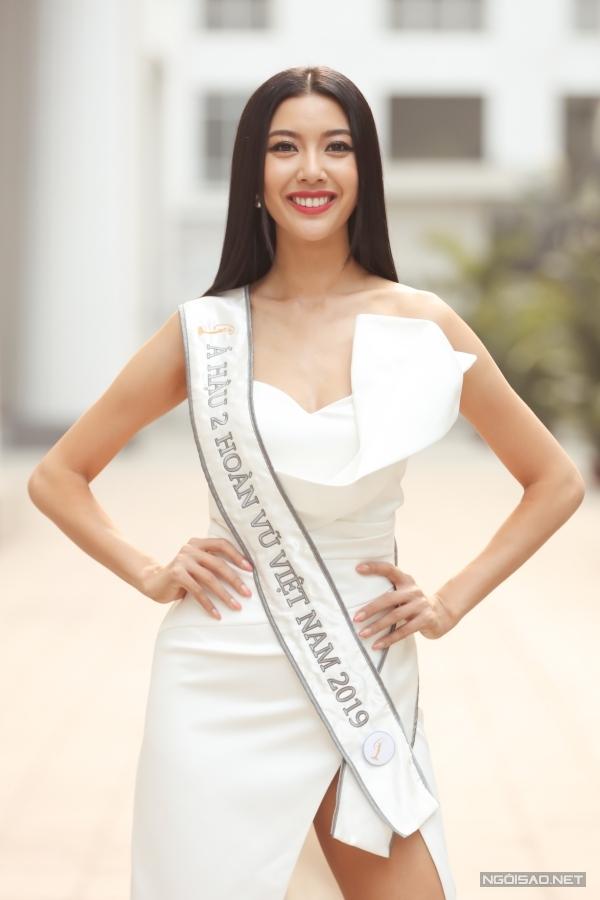 Dừng chân ở vị trí Á hậu 2 gây tiếc nuối song Thuý Vân hài lòng với kết quả bởi cô đã nỗ lực hết mình trong cuộc thi.