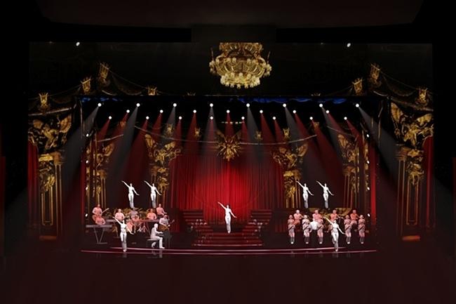 Phối cảnh sân khấu liveshow của Lệ Quyên.