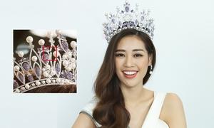 Vương miện của hoa hậu Khánh Vân bị gãy