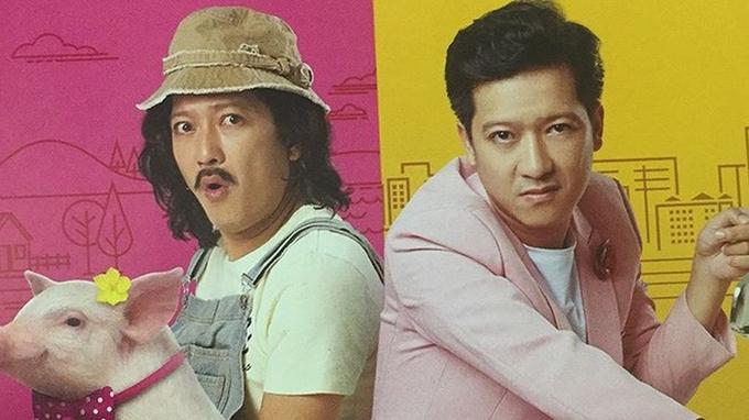 Trường Giang đóng hai vai: người anh siêu sao và cậu em siêu ngố.