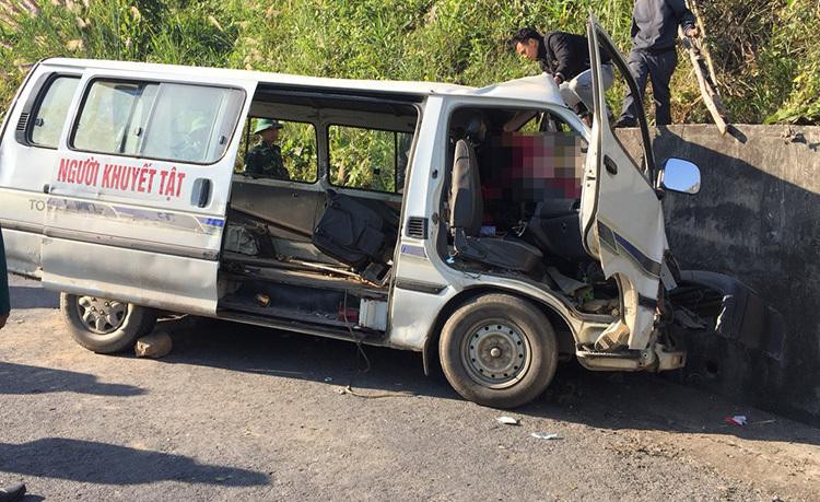 Hiện trường chiếc xe trong vụ tai nạn.