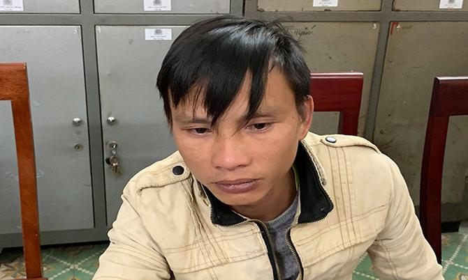 Vi Văn Khay tại cơ quan điều tra.