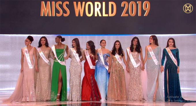 Người đẹp Nepal (thứ 5 từ trái sang) thắng giải Nhân ái.