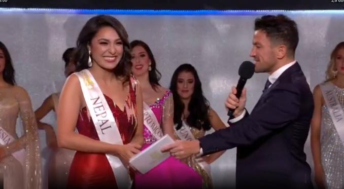 Người đẹp Nepal hạnh phúc khi được xướng tên vào Top 12.