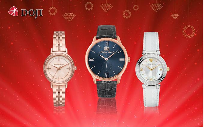 Các tín đồ của đồng hồ cũng nhận ưu đãi của DOJI với mức giảm 15% toàn bộ thương hiệu Michael Kors, Armani, Versace, Mathey Tissot...