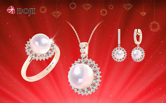 Những quý cô yêu thích phong cách cổ điển, sang trọng có thể lựa chọn thiết kế trang sức ngọc trai của DOJI.