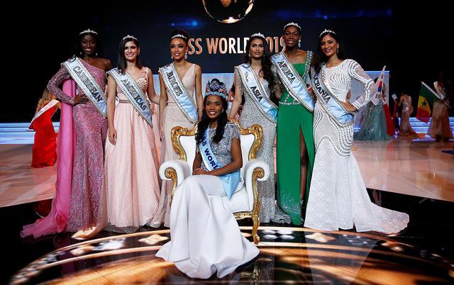 Hoa hậu thế giới bên các hoa hậu lục địa.