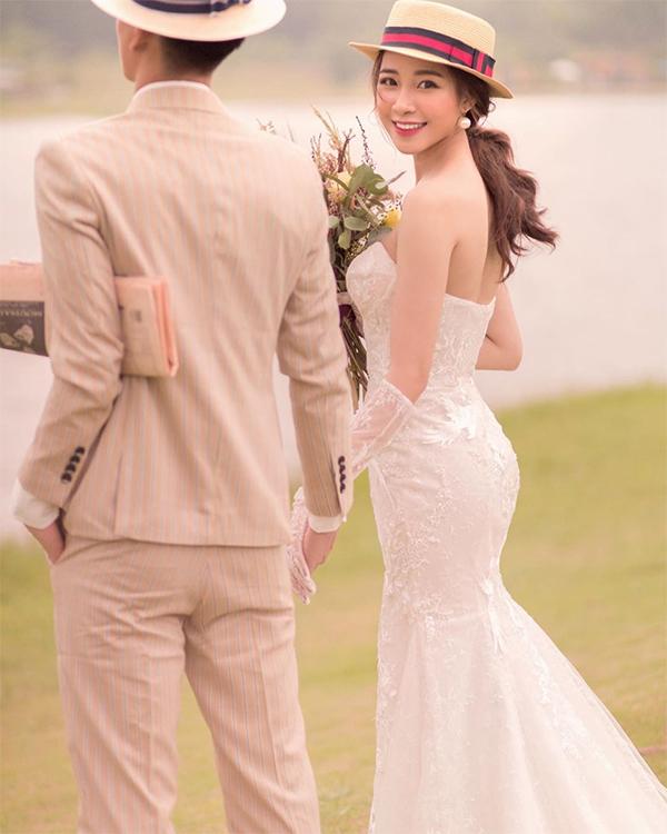 Bức ảnh cưới hot girl Võ Nhật Linh khoe trên trang cá nhân. Ảnh: Instagram.