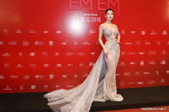 Chi Pu tại sự kiện ra mắt phim Chị chị em em tối 17/12.