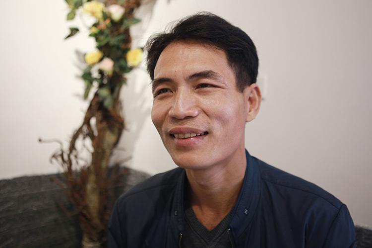 Thiếu tá Võ Văn Tuấn. Ảnh: Anh Thư.