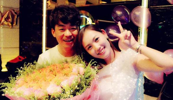 Vương Bảo Cường và vợ khi còn sống chung.