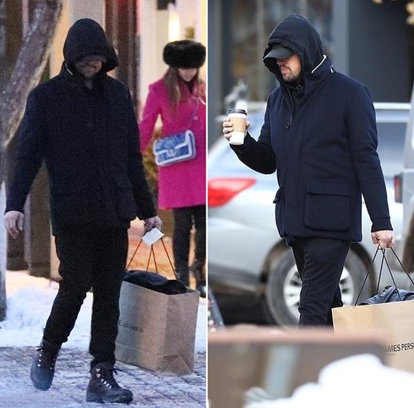 Giữa thời tiết giá lạnh, nam diễn viên càng dễ ngụy trang hơn.