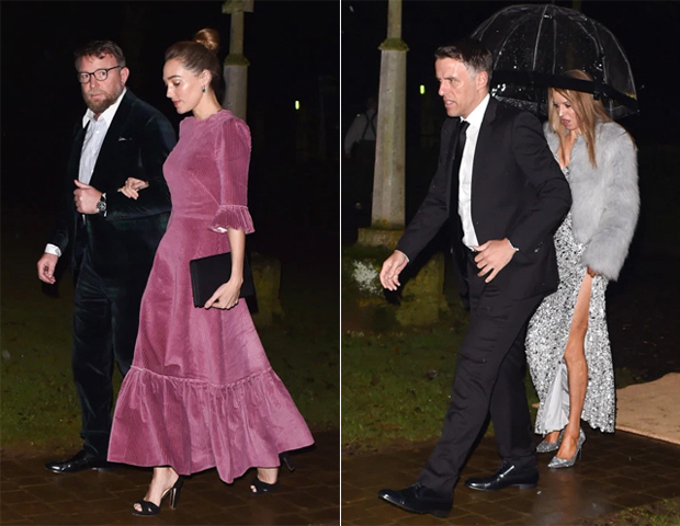 Đạo diễn Guy Ritchie và vợ Jacqui Ainsley tay trong tay tới dự tiệc nhà Becks. Guy Ritchie là bố đỡ đầu của Cruz.