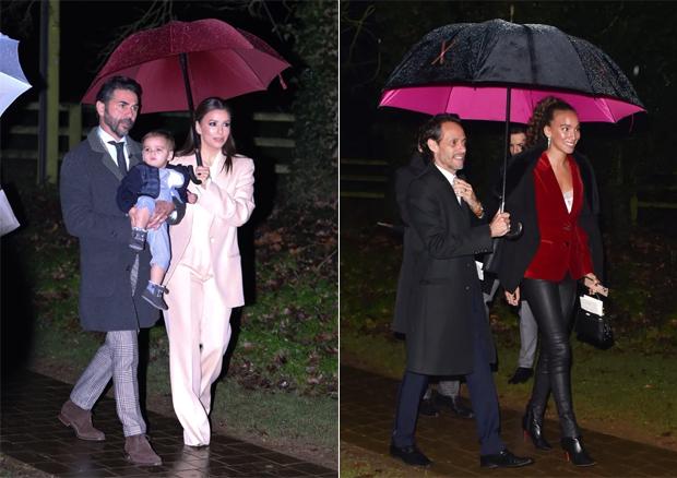 Nữ diễn viên Eva Longoria là mẹ đỡ đầu của Harper. Người đẹp Mỹ cùng chồng và con trai tới dự tiệc.