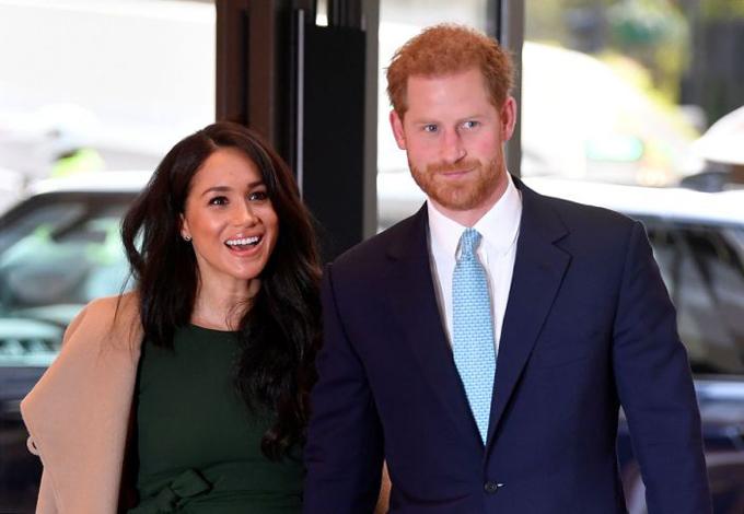 Vợ chồng Công tước và Nữ công tước xứ Sussex. Ảnh: PA.