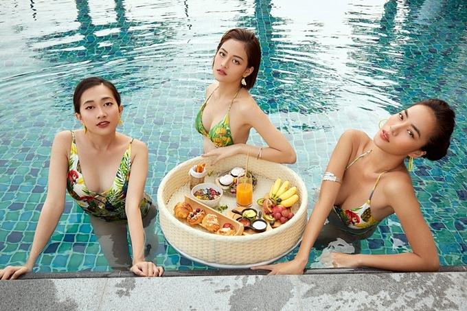 Ngoài đời, bốn nữ diễn viên cũng có mối quan hệ thân thiết. Mới đây, Lan Phương, Thùy Anh, Thoại Tiên cùng xuất hiện trong MV Gái già tuyển phi công của Lan Ngọc.