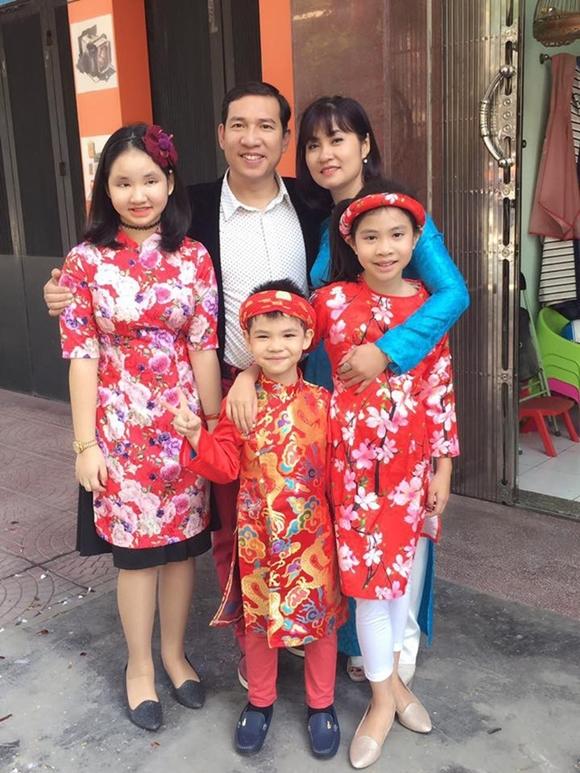 Gia đình nghệ sĩ Quang Thắng.