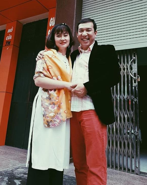 Quang Thắng bên người vợ kém 11 tuổi.