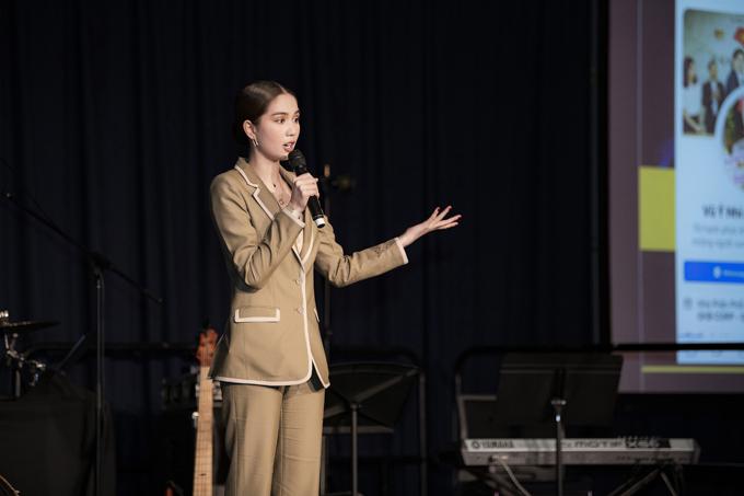 Ngọc Trinh tại sự kiện Hội thảo kênh phân phối nước ngoài ở Brisbane, Australia hồi tháng 8.
