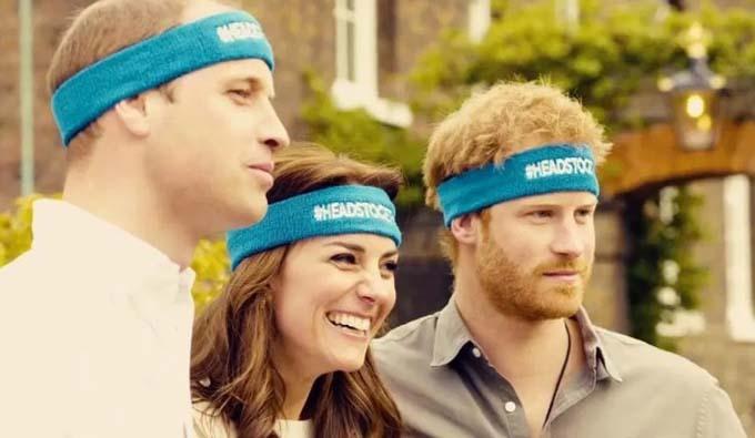 Vợ chồng William và em trai trong buổi công bố thành lập tổ chức Heads Together.