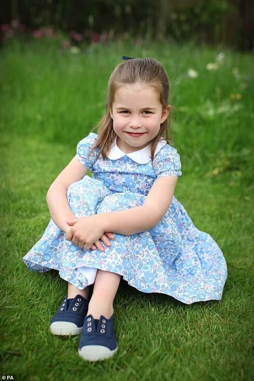Công chúa Charlotte hiện 4 tuổi. Ảnh: PA.
