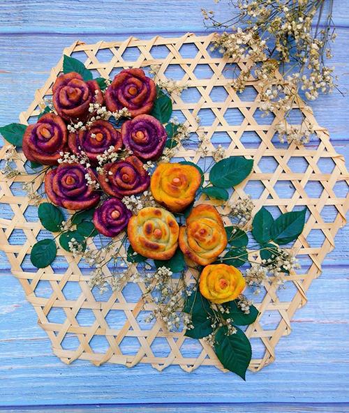 Khoai lang chiên hình bông hoa - 1