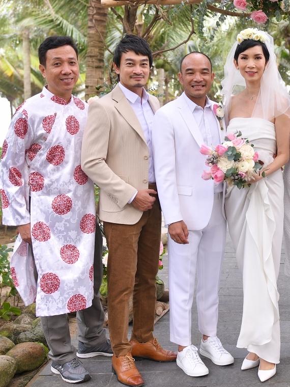 Từ trái qua: diễn viên, diễn viên Trương Minh Quốc Thái