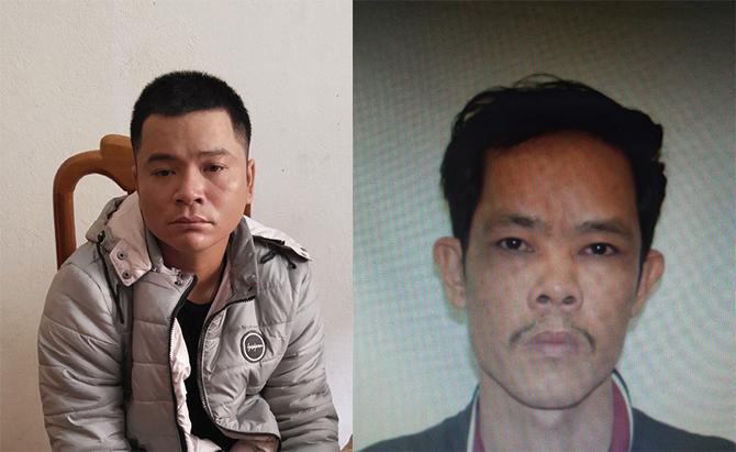 Nguyễn Hồng Cảnh và Đỗ Thanh Long tại cơ quan công an. Ảnh: Sơn Thủy.