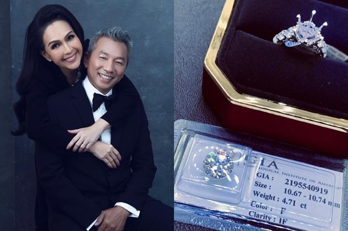 Nhân dịp kỷ niệm 25 năm ngày cưới vào cuối tháng 9/2019, doanh nhân Hà Tôn Đức chi hơn 219.000 USD (khoảng 5 tỷ đông) mua tặng bà xã Diễm My chiếc nhẫn kim cương cỡ lớn. Trước đó, khi kết hôn vào năm 1994, ông xã Diễm My là Việt kiều Mỹ mới về nước, chưa phải đại gia. Do đó, anh muốn dành tặng vợ một món quà đặc biệt đánh dấu chặng đường 25 năm gắn bó bên nhau. Hiện họ có hai con gái lớn, sinh sống và làm việc ở Mỹ.