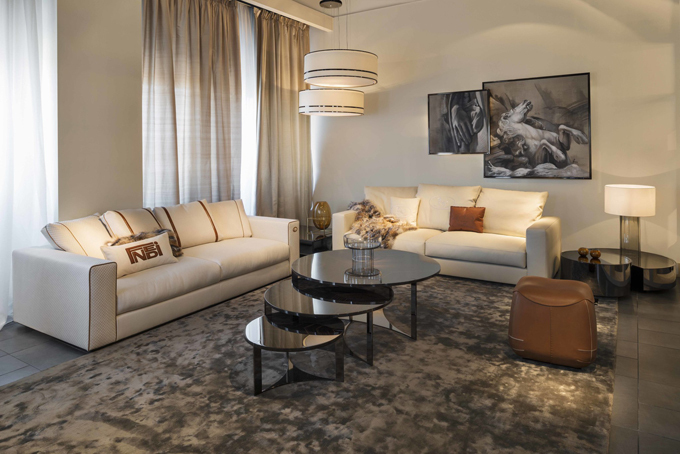 Không gian sang trọng hơn với đồ nội thất của Fendi Casa.