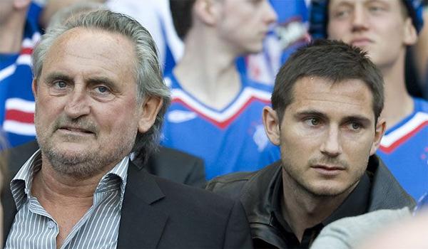 Lampard và bố. Ảnh: Pin.