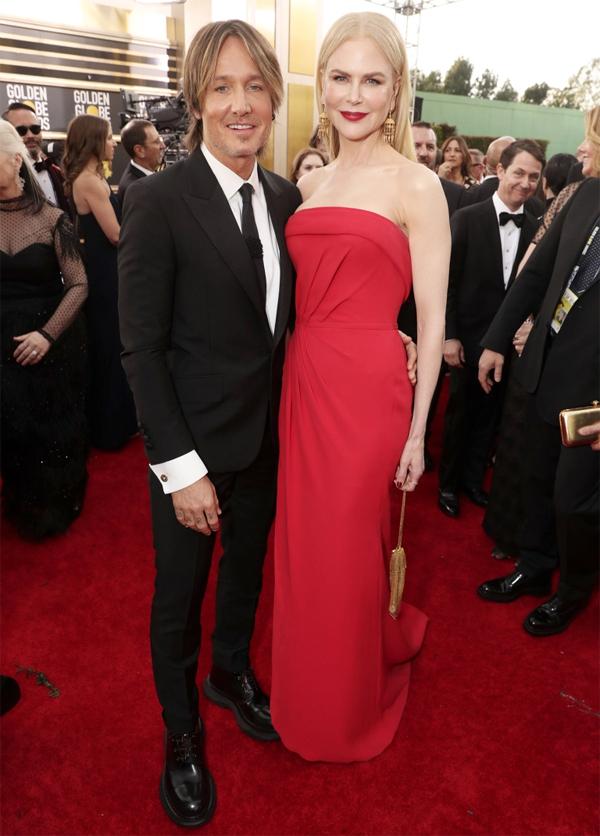 Vợ chồng Nicole Kidman -Keith Urban luôn gắn như sam ở các sự kiện và Quả cầu vàng cũng không phải ngoại lệ.